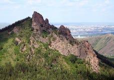 Гора Takmak в штендерах Krasnoyarsk запаса стоковое фото rf