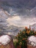Гора Tangkuban Perahu Стоковое Изображение RF