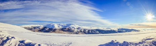 Гора Tarcu на солнечный день Стоковые Изображения RF