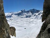 Гора Tignes Стоковые Изображения RF