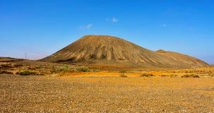 Гора Tindaya в La Oliva Стоковые Изображения RF