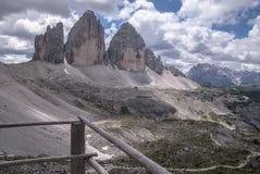 Гора Tre Cime de Lavaredo Италия Стоковые Фото