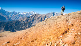 Гора trekking стоковое фото rf