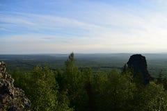 Гора Ural покрывает взгляд замечания Стоковые Изображения RF