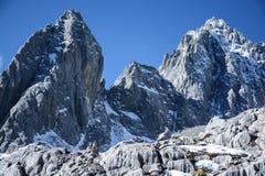 Гора Yulong покрытая снегом Стоковая Фотография RF