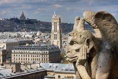 Горгульи, Sacre Coeur и путешествие Свят-Jacques Стоковые Фотографии RF