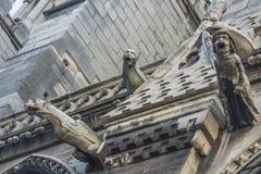 Горгульи в Париже Стоковые Фотографии RF