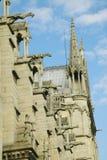 Горгульи на экстерьере собора Нотр-Дам, Парижа, Франции Стоковые Изображения