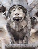 Горгулья и химера собора Нотр-Дам, Парижа Стоковые Фото