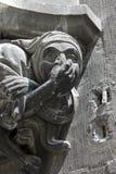 Горгулья на новой ратуше в Мюнхене Стоковое Фото