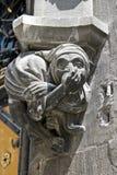 Горгулья на новой ратуше в Мюнхене Стоковое Изображение