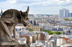 Горгулья на Нотр-Дам de Париже Стоковое Изображение