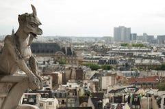 Горгулья на соборе Нотр-Дам, Париже Стоковая Фотография RF
