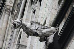 Горгулья на соборе Sacre Coeur, Париже, Франции стоковая фотография rf