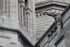 Горгулья на Sacre Coeur в Париже Стоковая Фотография