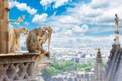 Горгулья Парижа Стоковые Фотографии RF
