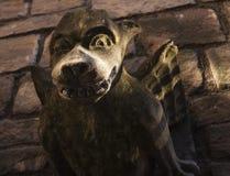 Горгулья темного коричневого цвета и зеленого цвета Стоковое Фото
