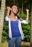 Гордая милая женщина филиппинки стоковая фотография