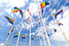 гордость флагов стоковые фотографии rf