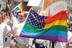 гордость 2011 парада nyc Стоковое фото RF