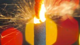 Горение бенгальского огня фейерверка Стоковая Фотография RF