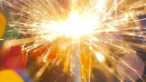 Горение бенгальского огня фейерверка Стоковые Фото