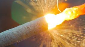 Горение бенгальского огня фейерверка Стоковое Изображение RF
