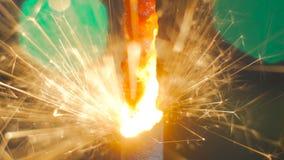 Горение бенгальского огня фейерверка Стоковые Фотографии RF