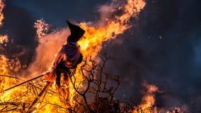 Горение ведьмы Стоковая Фотография RF