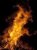 горение костра Стоковые Фотографии RF