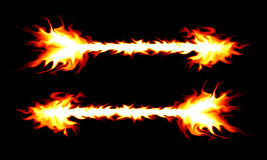 горение стрелки Стоковое Изображение