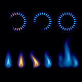 Гореть пламен газа Стоковое Изображение