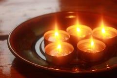 Гореть свечей праздника Стоковые Изображения