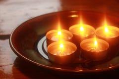 Гореть свечей праздника Стоковое фото RF