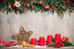 Гореть 4 свечей пришествия стоковое фото rf