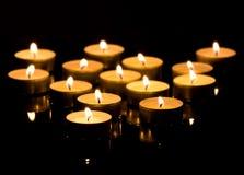 Гореть свечей рождества стоковое фото