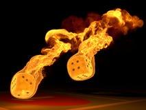 гореть dices Стоковая Фотография RF