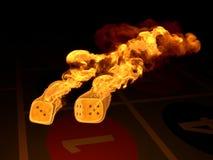 гореть dices Стоковые Изображения RF