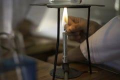 Горелка Bunsen Стоковое Изображение RF