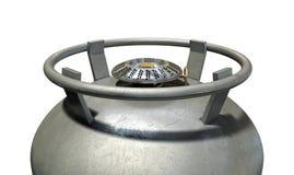 Горелка Stovetop газового баллона Стоковое Изображение