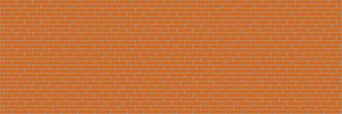 горизонтальная оранжевая кирпичная стена для предпосылки и дизайна Стоковое Изображение