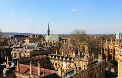 Горизонтальная панорама с Оксфордом стоковые фото