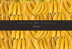 Горизонтальное знамя много зрелого пука банана Концепция здоровой еды Стоковое фото RF