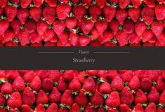 Горизонтальное знамя много зрелых strawberrys Концепция здоровой еды Стоковое фото RF