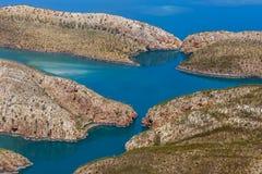 Горизонтальные водопады расположенные на Broome в западной Австралии стоковое фото rf