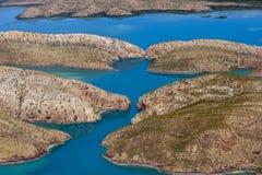 Горизонтальные водопады расположенные на Broome в западной Австралии стоковые изображения rf