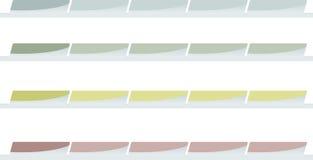 горизонтальные меню Стоковое Фото