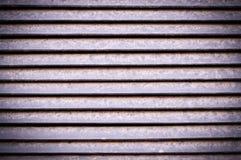 Горизонтальные нашивки экстерьера jalousie металла с виньеткой Предпосылка, текстура стоковая фотография rf