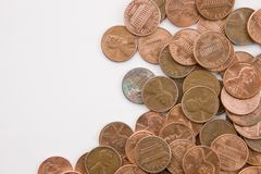 горизонтальные пенни Стоковые Фото