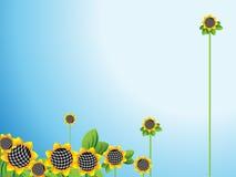 горизонтальные солнцецветы Иллюстрация штока